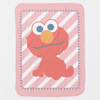 Sentada del bebé de Elmo Mantas De Bebé