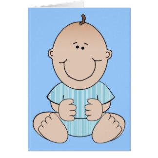 Sentada del bebé tarjeta de felicitación