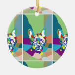 Sentada del dogo francés ornaments para arbol de navidad