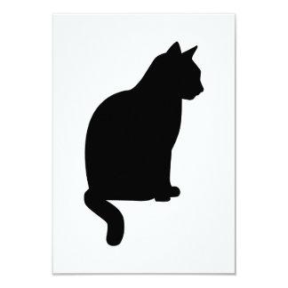 """Sentada del gato invitación 3.5"""" x 5"""""""
