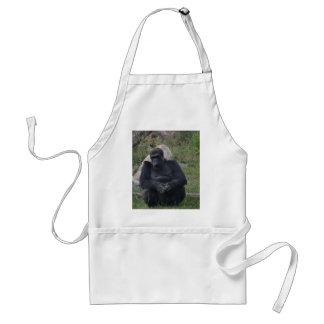 Sentada del gorila delantal