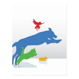 Sentada del mascota tarjeta postal