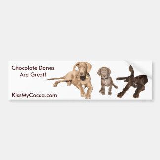 Sentada del perrito del chocolate pegatina para auto