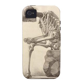 Sentada esquelética Case-Mate iPhone 4 carcasa