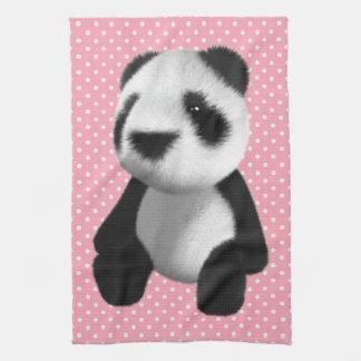 Sentada linda del oso de panda 3d (editable) toalla