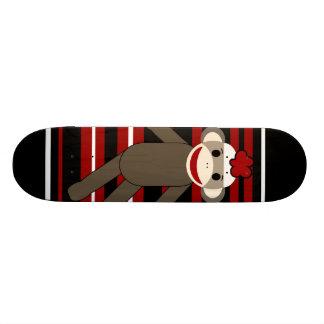Sentada rayada blanca negra roja del chica del mon patinetas personalizadas