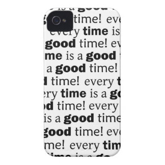 sentence:every time is a good time iPhone 4 Case-Mate case