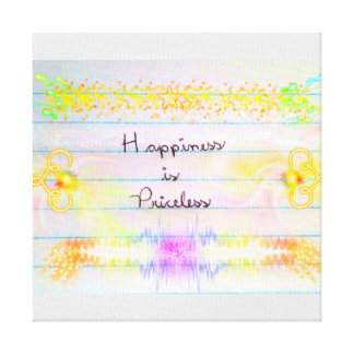 Sentence Happiness IS Priceless Canvas Print