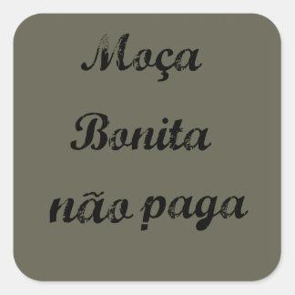 Sentences in Portuguese Square Sticker