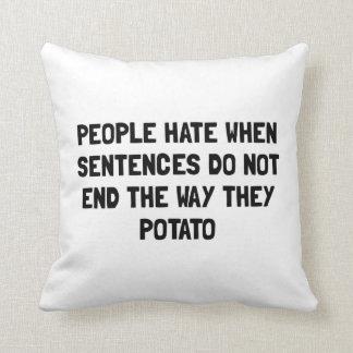 Sentences Potato Throw Pillow