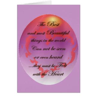 Sentido con el corazón tarjeta de felicitación