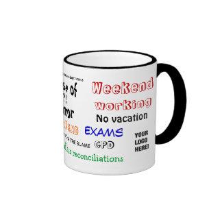 ¡Sentido del contable del humor?! Añada su taza