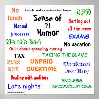 Sentido del contable del humor póster