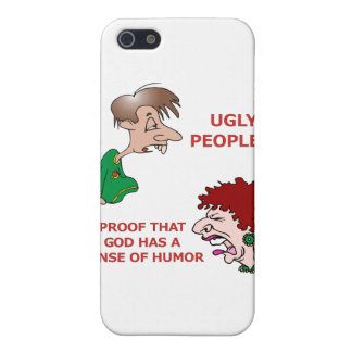 Sentido feo grosero pero divertido de dios de la iPhone 5 carcasas