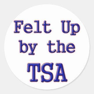 Sentido para arriba por el TSA Pegatina Redonda