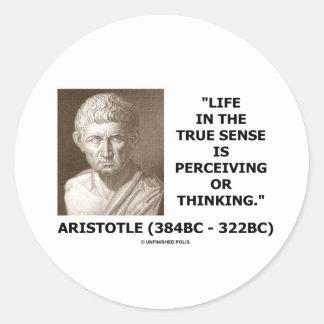Sentido verdadero de la vida de Aristóteles que Etiquetas Redondas