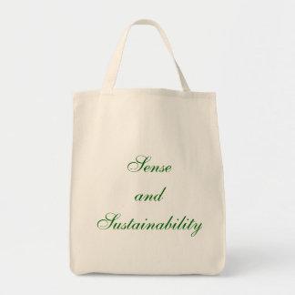 Sentido y continuidad bolsa tela para la compra