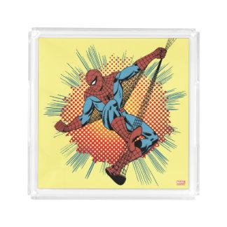 Sentidos retros de Spider-Man Spidey Bandeja Cuadrada