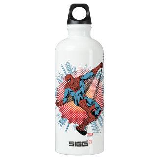 Sentidos retros de Spider-Man Spidey Botella De Agua