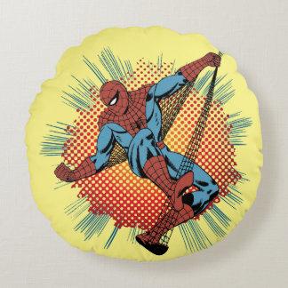 Sentidos retros de Spider-Man Spidey Cojín Redondo