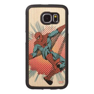 Sentidos retros de Spider-Man Spidey Funda De Madera Para Samsung Galaxy S6
