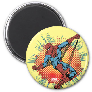 Sentidos retros de Spider-Man Spidey Imán Redondo 5 Cm