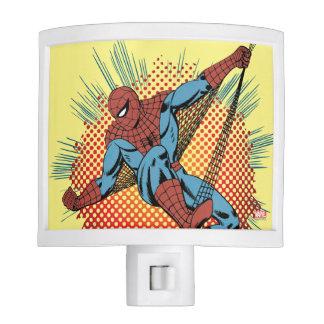 Sentidos retros de Spider-Man Spidey Lámpara De Noche