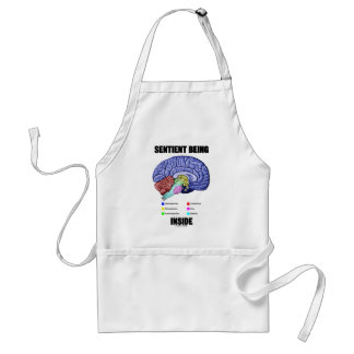 Sentient Being Inside (Anatomical Brain) Adult Apron