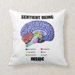 Sentient Being Inside (Anatomical Brain) Throw Pillow