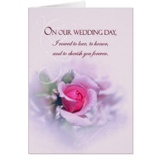 Sentimental Anniversary Wedding Vows With Rose Card