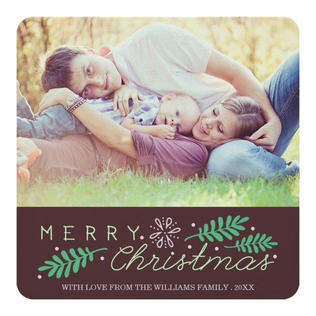 Sentimental | Merry Christmas Holiday Photo Card