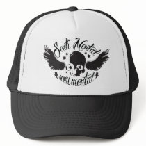 Sentimental, semi mental skull graphic art. trucker hat