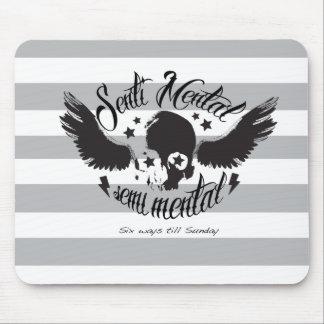 Sentimental, semi-mental skull graphic. mouse pad