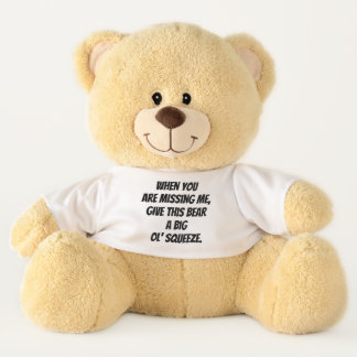 Sentimental When You Are Missing Me Print Teddy Bear