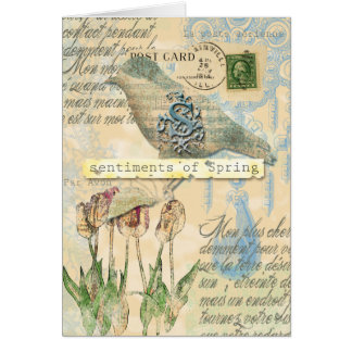 Sentiments of spring card
