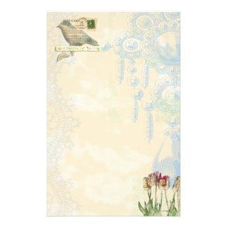 sentiments of spring Stationary Custom Stationery