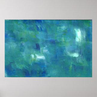 Sentimiento abstracto del verde azul