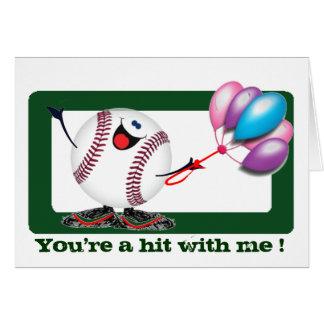 Sentimientos del béisbol tarjeta de felicitación
