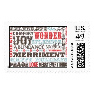 Sentimientos estacionales sellos postales