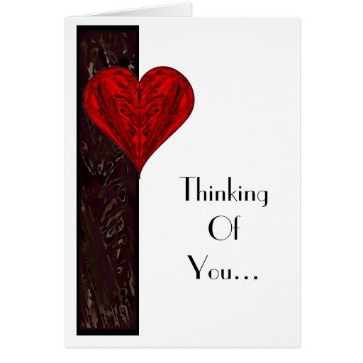 Sentimientos - pensando en usted #1 tarjeta