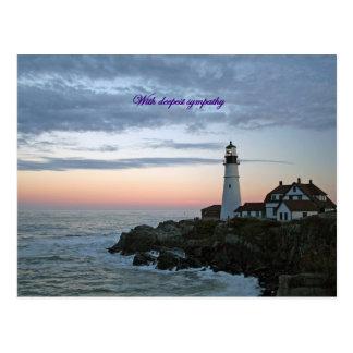 Sentinal en la puesta del sol, con la condolencia tarjetas postales
