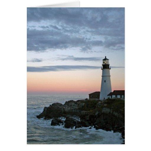 Sentinal en la puesta del sol tarjeta de felicitación