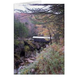 Sentinel Bridge Fall Foliage Notecard Card