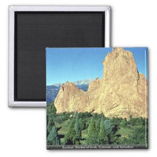 Sentinel, Garden of Gods, Colorado rock formation Magnet