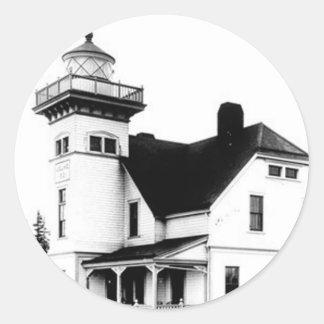 Sentinel Island Lighthouse 2 Classic Round Sticker