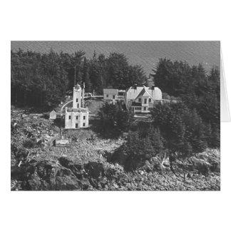Sentinel Island Lighthouse Card