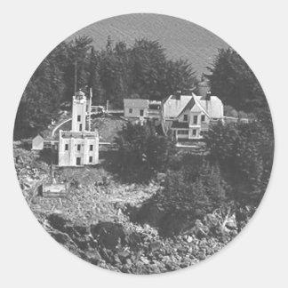 Sentinel Island Lighthouse Classic Round Sticker