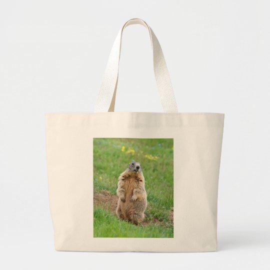 Sentinel marmot large tote bag