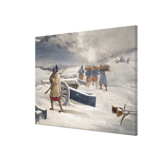 Sentinel of the Zouaves, plate from 'The Seat of W Canvas Print
