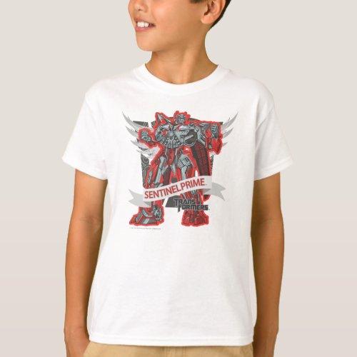 Sentinel Prime Grey Wings T_Shirt